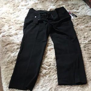 Women's black dress pants by Larry Levine
